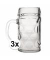 Oktoberfest - 3 glazen bierpullen 0,5 liter