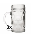 Oktoberfest - 3 glazen bierpullen 1 liter