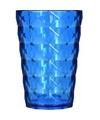 Drink glas van helder plastic blauw 350 ML