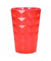 Drink glas van helder plastic rood 350 ML